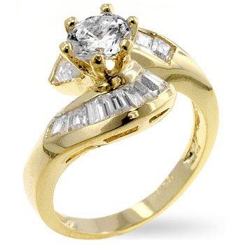 14kt GP 1.75 CTW ENGAGEMENT RING