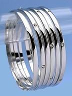 Designer Style Highly Polished Crystal Bangles 6pc