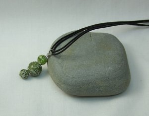 Lime Green Speckled Necklace