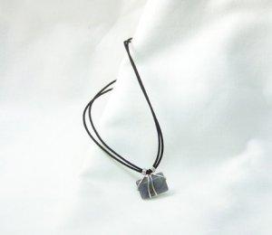 Blue Rectangular Stone Necklace