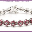 Ruby & Diamond Star Bracelet FREE SHIPPING
