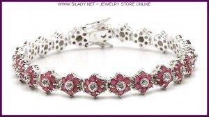Ruby & Diamond Star Bracelet FREE SHIPPING