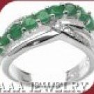 Emerald Scroll Ring FREE SHIPPING
