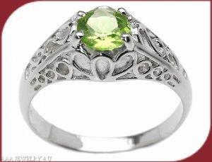 Peridot Solitare Ring