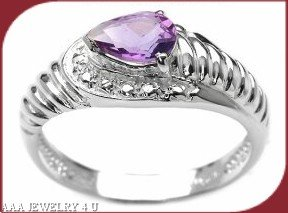 Amethyst Pear Ring FREE SHIPPING