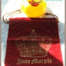 Cute & Authentic Jane Marple Crystal Crown Jewelry Pouch