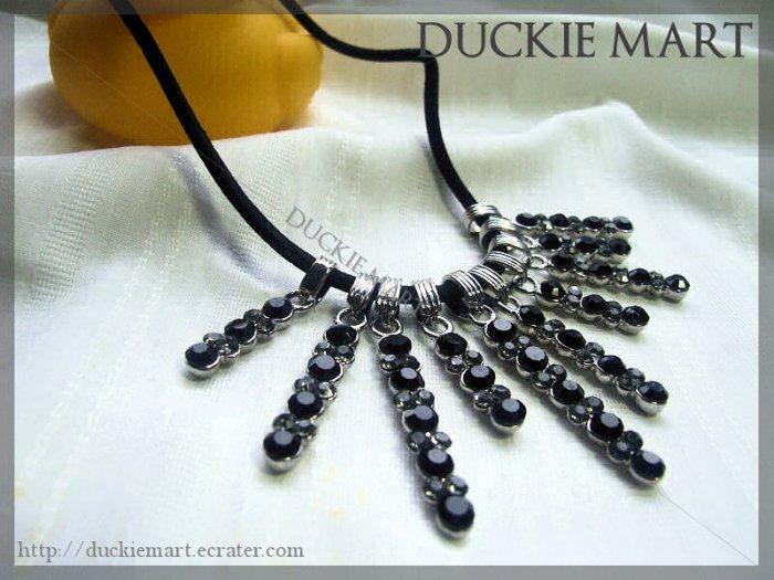 BRAND NEW Rare Gothic Sorceress Rhinestone Multi Pendents Necklace