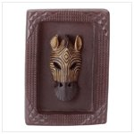 ALAB FRAMED ZEBRA MASK PLAQUE
