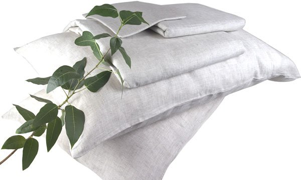 100% FRENCH LINEN BED SHEETS -TWIN- WHITE