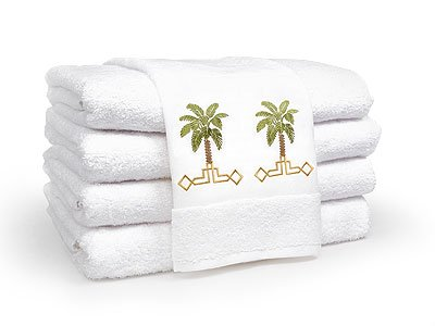 100%Egyptian cotton Towel set with Palm embroidery