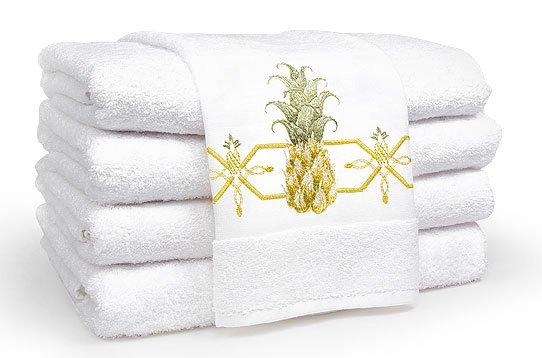 100%Egyptian cotton Towel set with Pineapple embroidery