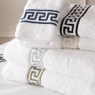100%Egyptian cotton Towel set with Greek key embroidery