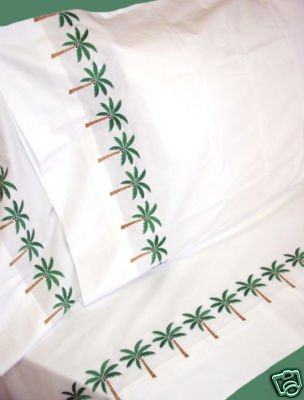 Nile Valley 1000tc 100% Egyptian Cotton with Palm Embroidery -KING-