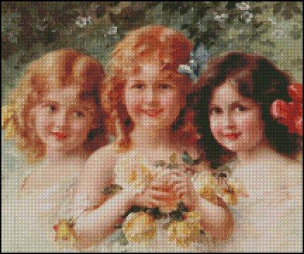 THREE SISTERS cross stitch pattern