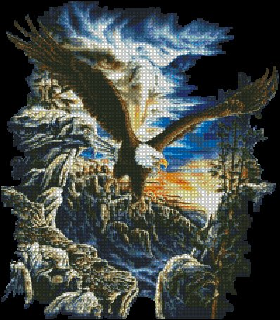 FANTASY EAGLES cross stitch pattern