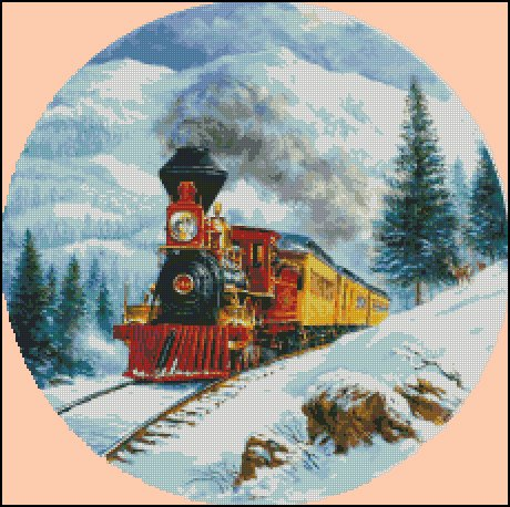 TRAIN 3 cross stitch pattern