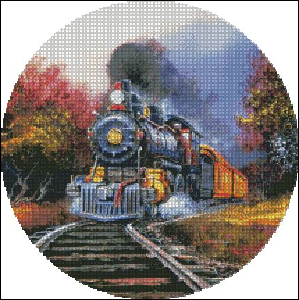 TRAIN 2 cross stitch pattern