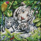 TIGERS HARMONY cross stitch pattern