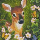 DEER AND BUTTERFLIES cross stitch pattern
