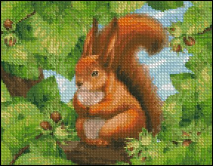 SQUIRREL #1 cross stitch pattern