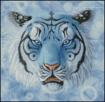 FANTASY TIGER cross stitch pattern
