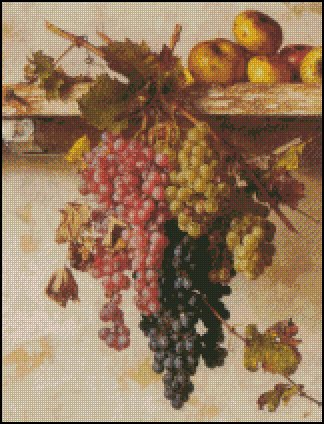 AUTUMN GRAPES cross stitch pattern
