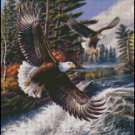 EAGLES WHITE WATER cross stitch pattern