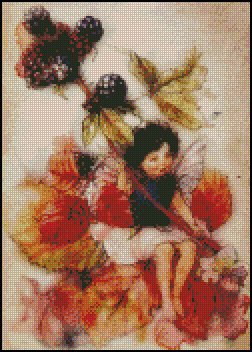 BLACKBERRY FAIRY cross stitch pattern