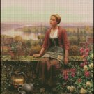 MARIA ON THE TERRACE cross stitch pattern