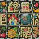LOVE, HOME, FAMILY, FRIENDS cross stitch pattern