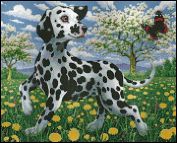 PUPPY DALMATIAN cross stitch pattern