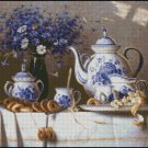 CHINA AND BLUE CORNFLOWER cross stitch pattern