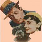 AUDREY HEPBURN SABRINA cross stitch pattern