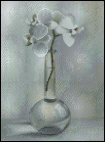FLOWER IN A VASE cross stitch pattern