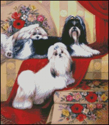 Dogs LADIES cross stitch pattern
