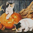FALL KITTENS cross stitch pattern