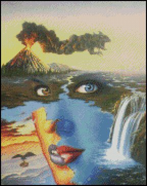 FANTASY ART cross stitch pattern