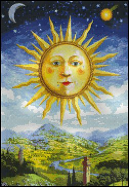 RENAISSANCE SUN cross stitch pattern