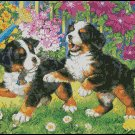 CUTE PUPPIES cross stitch pattern