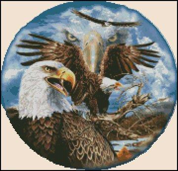 EAGLES cross stitch pattern