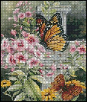 BUTTERFLIES cross stitch pattern