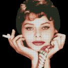 SOPHIA LOREN cross stitch pattern