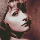 GRETA GARBO cross stitch pattern
