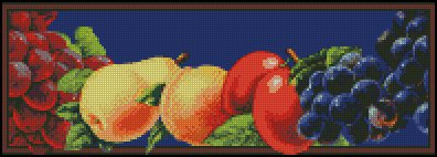 FRUIT CRATE LABEL cross stitch pattern