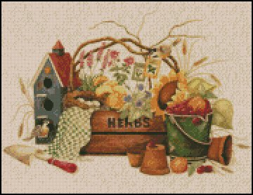 GARDEN HERBS cross stitch pattern