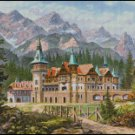 CASTLE AT THE FOOT OF THE MOUNTAIN cross stitch pattern
