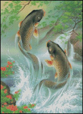 KOI FISH cross stitch pattern