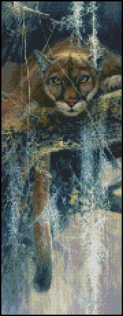 BIG CAT cross stitch pattern