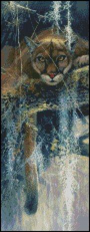 BIG CAT cross stitch pattern