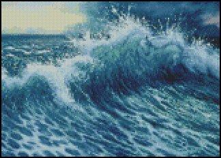 THE WAVE cross stitch pattern